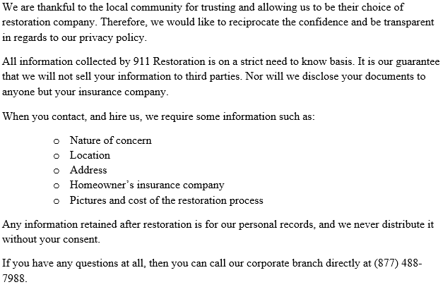 911_Restoration_Plano_Privacy_Policy